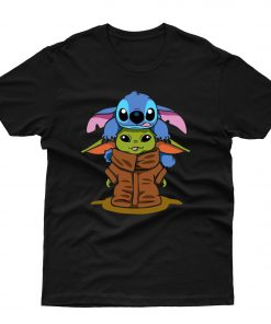 Baby Stitch And Baby Yoda Are Friends T shirt