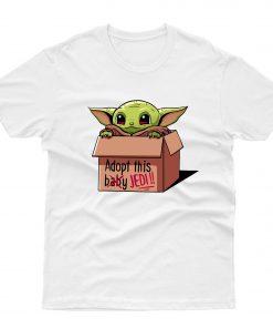 Baby Yoda Adopt This Baby Jedi T shirt