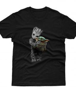 Groot Hug Baby Yoda T shirt