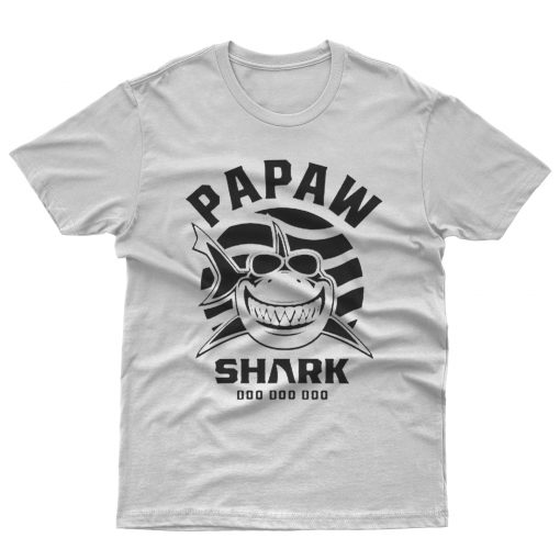 Mens Papaw Shark Father Grandpa Gift T shirt