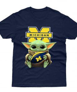 Michigan Wolverines Baby Yoda T shirt