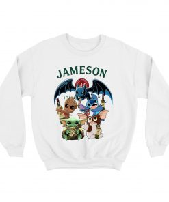 Baby Yoda Baby Groot and Toothless Stitch Gizmo hug Jameson Sweatshirt