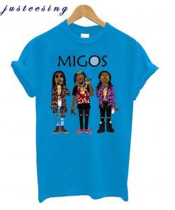 2018 New Arrival Man Migos T Shirt Popular Hip Hop Streetwear Soft T-Shirt