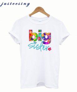 2 Big Sister Flower T-shirt