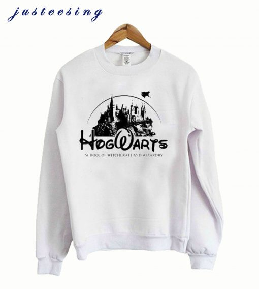 Hogwarts disney castle white Sweatshirt