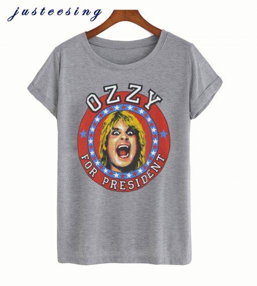 Vintage 1984 Ozzy Osbourne For President T-Shirt