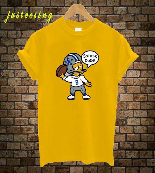 Troy Aikman Bart Simpson T-Shirt