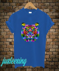 Colourful Lion Face T-Shirt