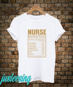 Nurse Nutrition Facts T-Shirt